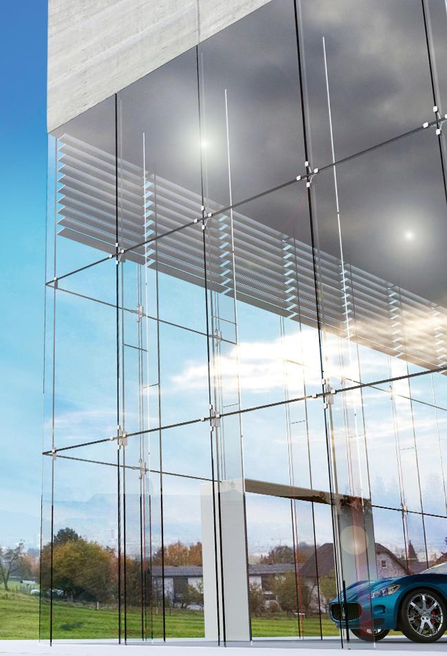 Fatada sticla spidere arhitectura moderna