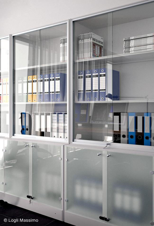 Mobilier sticla dulap usi sticla sistem Logli Massimo