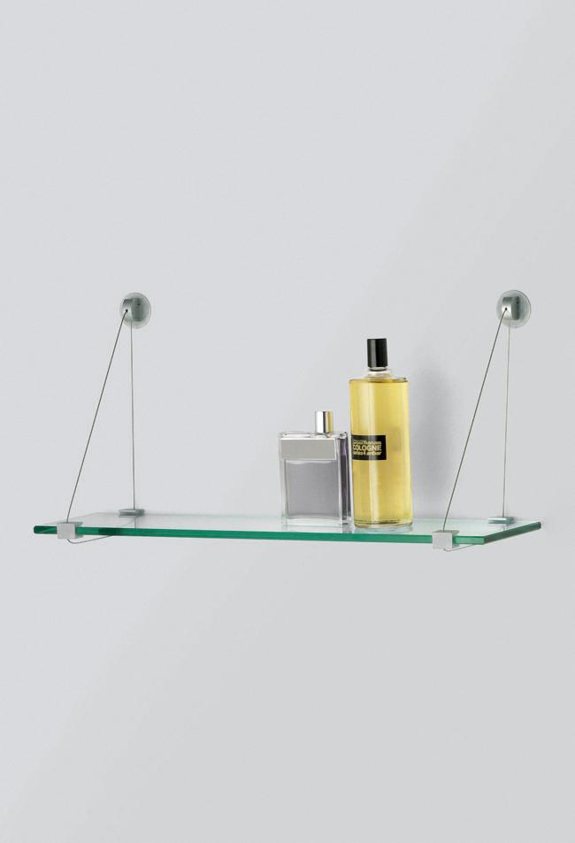 Polite rafturi sticla tiranti sistem Logli Massimo
