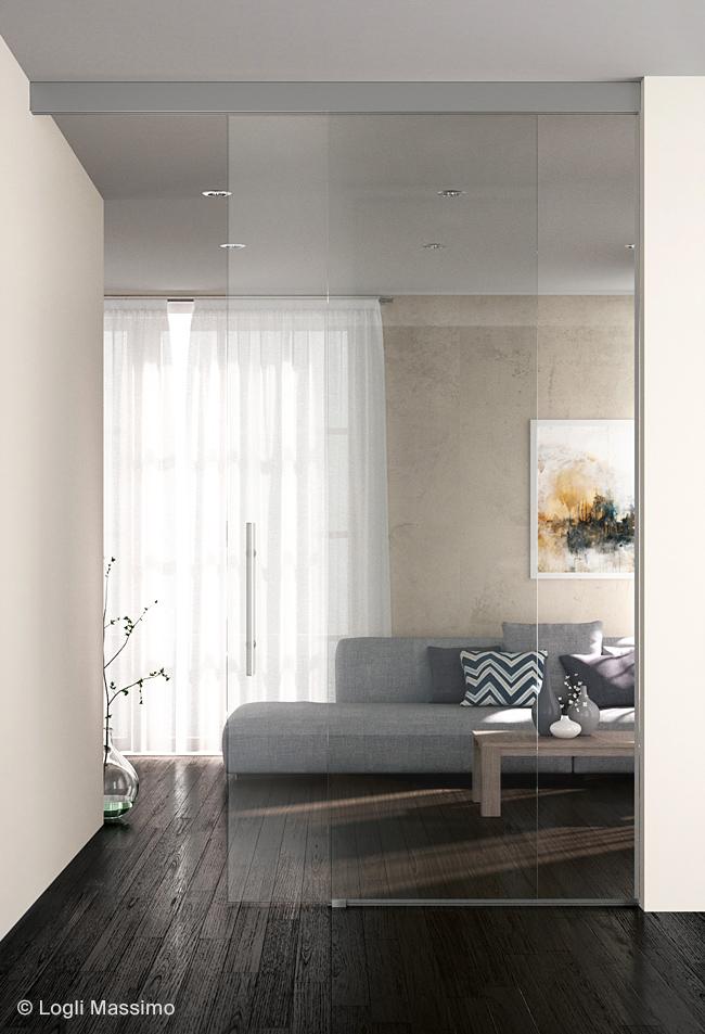 Usa culisanta sticla profil aluminiu sistem Logli Massimo